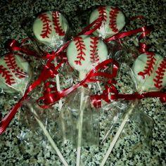 Baseball Oreo pops
