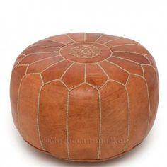 moroccan pouf tan