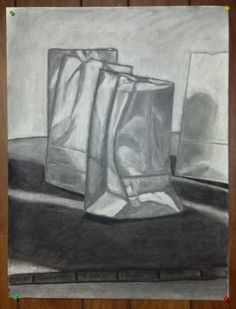 """Bag"" -- Scott Swalley (Charcoal on paper)"