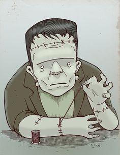 Frankenstein's monster by hatrobot On Tumblr