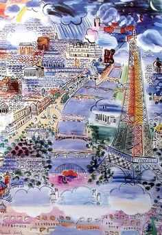 Raoul Dufy -a French Fauvist painter Raoul Dufy, Art Fauvisme, Post Impressionism, Henri Matisse, French Artists, Jackson Pollock, Oeuvre D'art, Gustav Klimt, Modern Art