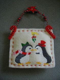 Felt Christmas Ornament Machine embroidery by longvalleybears, $3.25