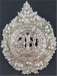 Argyll & Sutherland Highlanders (Princess Louise's) Voided Centre Other Ranks' metal cap badge for sale Princess Louise, Highlanders, Challenge Coins, Commonwealth, Badges, Empire, British, Army, Military
