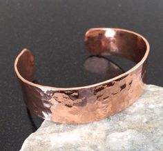 A personal favorite from my Etsy shop https://www.etsy.com/listing/223219003/copper-cuff-bracelet-c007-hammered-34