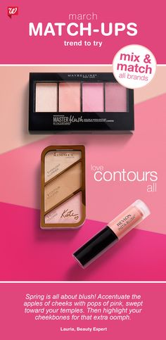 Love contours all! Mix all beauty brands till you meet your match! Buy 2 Get 3rd FREE Cosmetics & Nail, February 26 thru March 18 and add to you makeup collection.