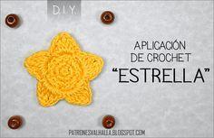 PATRONES VALHALLA // Patrones gratis de ganchillo: PATRÓN CROCHET: ESTRELLA (APLICACIÓN)