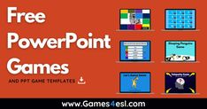 Powerpoint Game Templates, Microsoft Powerpoint, Hidden Picture Games, Free Games For Kids, Instructional Technology, Classroom Games, Typing Games, School Games, Education