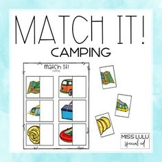 Match It! Camping Independent Work Task by Miss Lulu Work Task, Camping Theme, Student Work, Special Education, Teacher Pay Teachers, Just Go, Save Yourself, How To Become, Teaching