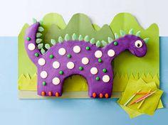 Kids birthday cake recipe - Crazy dinosaur cake - Yahoo!7 Food