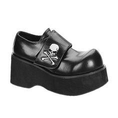 1aedbd69b12c Demonia DANK-108 Black Skull Gothic Platform Shoes - Demonia Shoes Punk  Shoes
