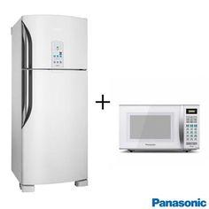 Refrigerador 435L Panasonic NRBT48 + Micro-ondas - fastshop.com.br