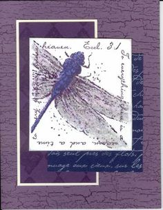 dragonfly by AnnetteMac - Cards and Paper Crafts at Splitcoaststampers