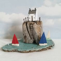 "409 Likes, 9 Comments - Shabby Daisies (@lorainespick) on Instagram: ""Sailing  around Gull Rock.  #driftwood #shabbydaisies #littlehouse #facebook #shabbychic…"""