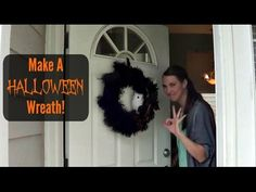 Making A Halloween Wreath | Pintober - YouTube