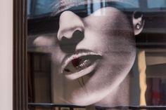 Fascinating painting seen at design hotel Gastwerk in Hamburg, Germany