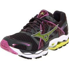 happyness Mizuno Women's Wave Enigma Running Shoe,Dark Shadow/Super Pink-Wild Lime,6 M US