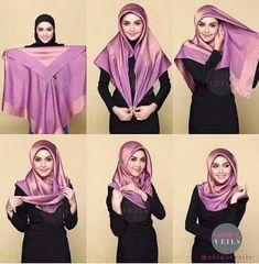 The latest hijab hijab tutorials provide complete instructions . - - The latest hijab hijab tutorials provide complete instructions . Turban Hijab, Hijab Dress, Hijab Chic, Stylish Hijab, Square Hijab Tutorial, Simple Hijab Tutorial, Hijab Style Tutorial, Tutorial Hijab Segi 4, Hijab Mode Inspiration