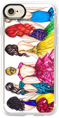 Casetify iPhone 7 Classic Grip Hülle - Princesses  by Melsy's Illustrations