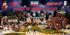 "forget the christmas village... i want this!!! a hawthorne ""village of horror classics""!"