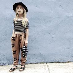 If I were a kid again, I would wear this! Bandit Bear French Terry Track Pant - Camel from Quinn   Fox
