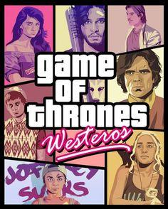 Game Of Thrones GTA 570x711 SR Geek Picks: Guide to Binge Watching Arrested Development, Grand Theft Auto Of Thrones, Doogie Howser Rap & More!