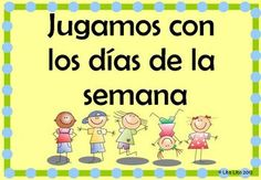 Spanish math centers to learn days of the week. $2.00