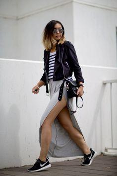 The Split Maxi Skirt - Beige RenegadeBeige Renegade