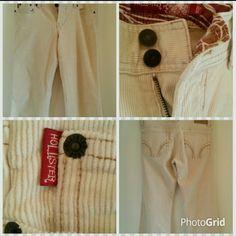 Hollister Cream corduroy pants Cream corduroy pants in exellent condition Hollister Pants