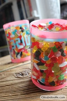 Vase rempli de bonbons - tutoriel
