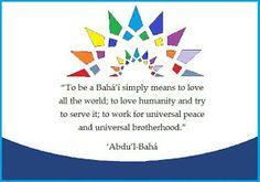 to be a Baha'i