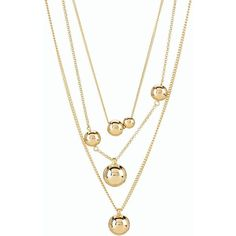 Talbots Women's Floating Orb Necklace ($50) ❤ liked on Polyvore featuring jewelry, necklaces, gold, talbots jewelry, strand necklace, tiered necklace, beading necklaces and talbots
