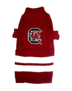 South Carolina Gamecocks Dog Sweater - Pets First Keep your pooch warm and cozy with this collegiate pet sweater! Large Dog Sweaters, Pet Sweaters, Gamecock Nation, Pet Dogs, Pets, South Carolina Gamecocks, Stylish, Shopping, Image Link