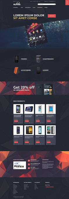 Mobile Devices Online Store #Magento #template. #themes #business #responsive #webshop #Magentothemes