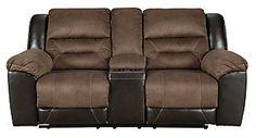Earhart Manual Reclining Sofa | Ashley Furniture HomeStore Homemakers Furniture, Living Room Essentials, Elements Of Style, Reclining Sofa, Signature Design, Sofa Furniture, Small Living, Seat Cushions, Recliner