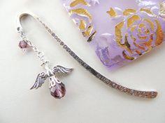 Angel Bookmark Purple Guardian Angel Bookmark by pnljewelrydesigns, $8.00