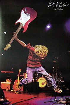 Seeing one shop Nirvana Kurt Cobain on Stage Music Photo Print Poster Size Kurt Cobain Photos, Nirvana Kurt Cobain, Kirk Cobain, Rock Band Posters, Rock Poster, Rock And Roll, Collage Mural, Donald Cobain, Image Manga