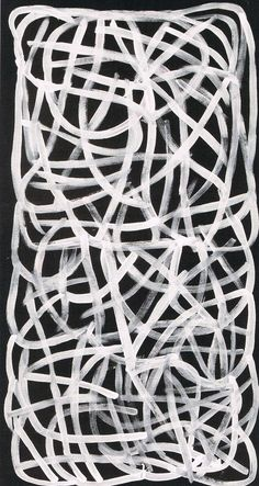 Big Yam (Linear Series), 1995 by Emily Kame Kngwarreye on Curiator, the world's biggest collaborative art collection. Action Painting, Painting & Drawing, Black And White Abstract, White Art, Modern Art, Contemporary Art, Aboriginal Artists, Digital Museum, Collaborative Art