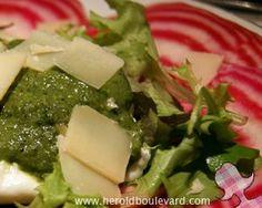 Une recette de pesto fort en basilic et léger en calorie, façon Michel Guérard