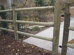 fence Split Rail with wire