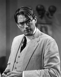 Gregory Peck as Atticus Finch in a publicity still from TO KILL A MOCKINGBIRD (1962)