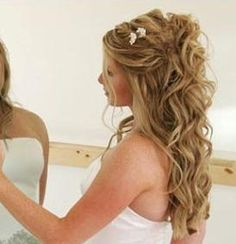 Awesome wedding hair. Half up