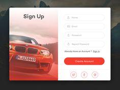 RentPro - Sign Up Form