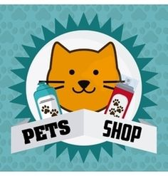 Pet shop design vector