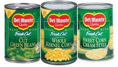 DEL MONTE CANNED VEGETABLES salt is not iodized