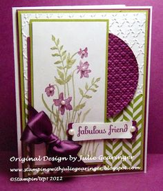 Stamping with Julie Gearinger: August 2012 SU! Creative Crew - Friendship