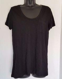 Caslon Womens Short Sleeve Soft V Neck Slub Knit Tee Size Medium #Caslon #Tee
