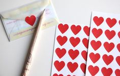 red heart sticker seals