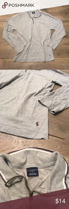 Ralph Lauren Sleep Shirt Ralph Lauren Sleep Shirt in excellent Used Condition. Shoes minimal signs of wear.  Comfortable shirt for bedtime or a lazy Sunday morning. Shirt has a large, loose fit and zip collar.  100% cotton Ralph Lauren Tops Tees - Long Sleeve