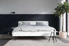 Bed 'Frame' white, a collaboration between Loof, Marie-Stella-Maris and April and May.