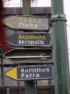 Signpost, Athens.
